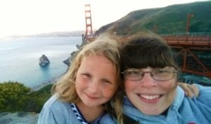 San Francisco with Daughter